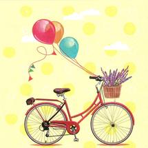 POL-MAK - Papírové ubrousky Bicycle with Ballons