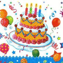 POL-MAK - Papírové ubrousky Birthday Cake