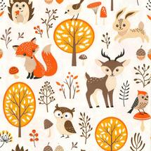 POL-MAK - Papírové ubrousky Forest Friends