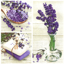 POL-MAK - Papírové ubrousky Lavender Spa Squares