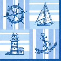 POL-MAK - Papírové ubrousky Nautical Pattern