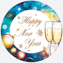 POL-MAK - Papírové talíře - Happy New Year GW 025373