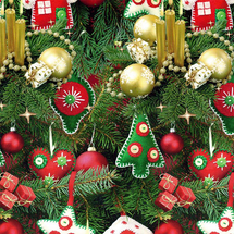 POL-MAK - Vánoční dárkový papír 24881 - 100x70 cm