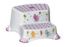 PRIMA BABY - Dvojstupienok k umyvadlu a WC Hippo, bílý