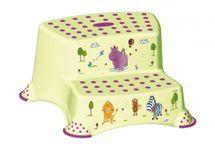 PRIMA BABY - Dvojstupienok k umyvadlu a WC Hippo, zelená