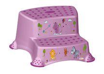 PRIMA BABY - Dvojstupínek k WC / umyvadlu Hippo - světle fialová