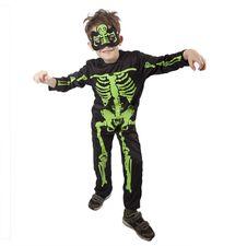 RAPPA - Kostým Kostlivec s maskou neon