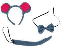 RAPPA - Sada myš - ocas, čelenka a motýlek