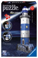 RAVENSBURGER - Maják V příboje (Noční Edice) 3D 216D
