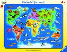 RAVENSBURGER - Mapa Světa se zvířaty 30-48D