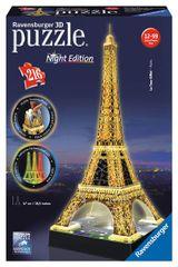RAVENSBURGER - Puzzle 3D Ravensburger Eiffelova věž - noční edice 216