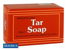 SIDERIUS - Tar Soap - medicinální mýdlo na lupénku, seboreu, lupy a ekzémy 100g