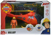 SIMBA - Hasiče Sam Vrtulník s figurkou 9251661