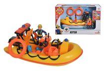 SIMBA - Požárník Sam záchranný člun Neptun 20 cm s figurkou