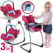 SMOBY - Autosedačka a židle 240226 Maxi Cosi Quinny 3v1