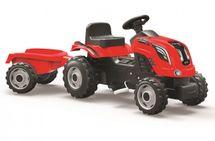 SMOBY - Šlapací traktor Farmer XL červený s vozíkem