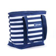 SPOKEY - ACAPULCO Plážová termo taška, pruhy - námořnická modrá