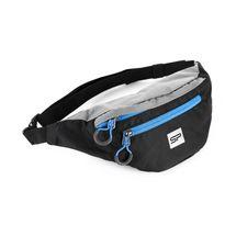 SPOKEY - BOREAS menší sportovní ledvinka černo-šedá, modrý zip, 3l