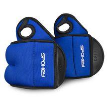 SPOKEY - COM FORM IV Závaží na zapěstí  2 x 1,5kg modré