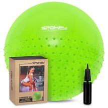 SPOKEY - HALF FIT Gymnastický míč 2v1 65 cm včetně pumpičky zelený