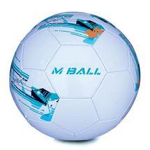 SPOKEY - MBALL fotbalový míč bílo-modrý vel.5