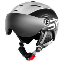 SPOKEY - MONTANA lyžařská přilba s vyměnitelným čelním sklem, černá, vel. M