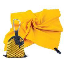 SPOKEY - NEMO Rychleschnoucí ručník 40 x 40 cm, žlutý s karabinou