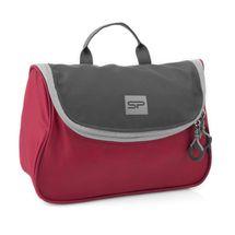 SPOKEY - RESORT Menší kosmetická cestovní taška, červeno-šedá