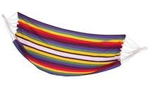 SPOKEY - SAMBA Houpací síť barevné pruhy, 100 x 210 cm, nosnost 120 kg