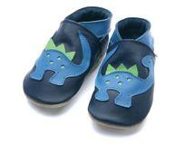 STARCHILD - Kožené botičky - Dino Navy,  Child Medium - velkost 4-5 let (velkost 27-28)