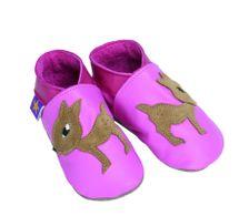 Starchild - Kožené botičky - Fawn Pink - velikost S (0-6 měsíců)