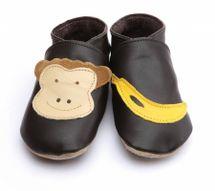 Starchild - Kožené botičky - Monkey and Banana Choc - velikost M (6-12 měsíců)