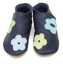 Starchild - Kožené botičky - Pansy Navy - velikost L (12-18 měsíců)