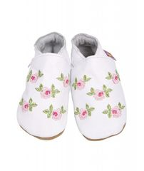 Starchild - Kožené botičky - Rosa White - velikost L (12-18 měsíců)