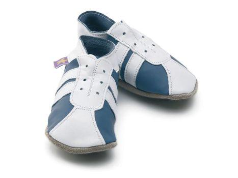 Starchild - Kožené botičky - Sporty Blue / White - velikost M (6-12 měsíců)