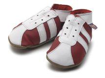 Starchild - Kožené botičky - Sporty Red / White - velikost L (12-18 měsíců)