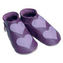 Starchild - Kožené botičky - Lovehearts Grape / mauve - velikost M (6-12 měsíců)