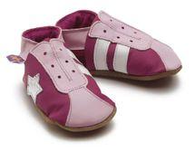 Starchild - Kožené botičky - Retro Trainers In Fuchsia Pink - velikost M (6-12 měsíců)