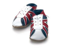 Starchild - Kožené botičky - UK Trainer Navy / red - velikost M (6-12 měsíců)
