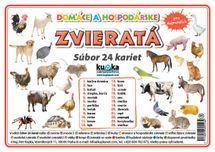 Súbor 24 kariet - zvieratá (domáce a hospodárske) -  Petr Kupka