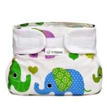T-TOMI - Ortopedické abdukční kalhotky, green elephants (3-6kg)