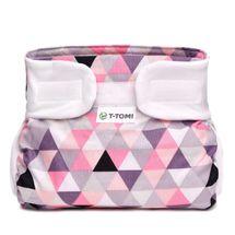 T-TOMI - Ortopedické abdukční kalhotky, pink triangles (5-9kg)