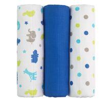 T-TOMI - TETRA pleny TOP KVALITA, s potiskem, 70x70, blue giraffes  / modré žirafy