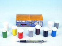 TEDDIES - Unikolky modelářské barvy sada 9 barev + matný lak zdarma v krabičce