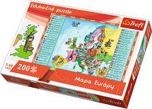 TREFL - Edukační Puzzle Mapa Evropy 200
