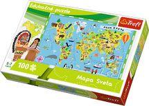 TREFL - Edukační Puzzle Mapa světa 100