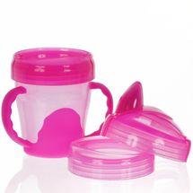 VITAL BABY - Dětský výukový 3 dílný hrnek 200 ml, růžový