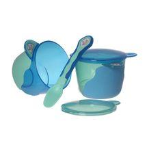 VITAL BABY - První dětská miska s lžičkou - modrá / zelená