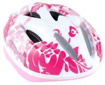 VOLARE - Dětská přilba Deluxe, bílá / růžová