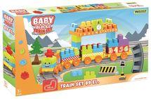 WADER - Stavebnice Baby Blocks vláček 89D 41480